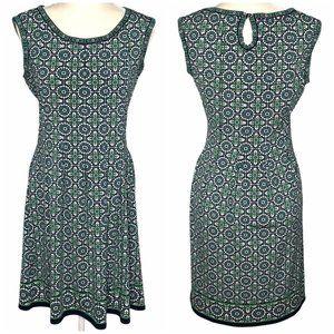 Max Studio Green Medallion Sleeveless Dress